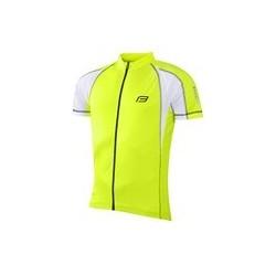 dres FORCE T10 krátky rukáv, fluo-biely L