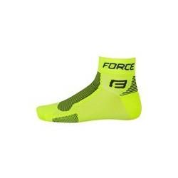 ponožky FORCE 1, fluo-čierne S - M