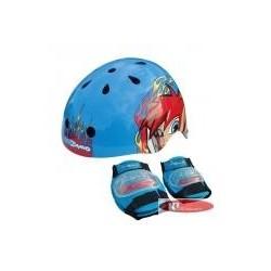 Prilba SKATE COBY + bandáže modrá 48-52cm remienky