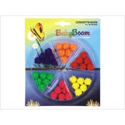 Ozdoba na špice, koráliky, 6 farieb